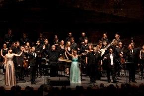 Curtain calls despues de la representación de la ópera de Händel, Tamerlano con Les Musiciens du Louvre y Placido Domingo en el papel de Bajazet.